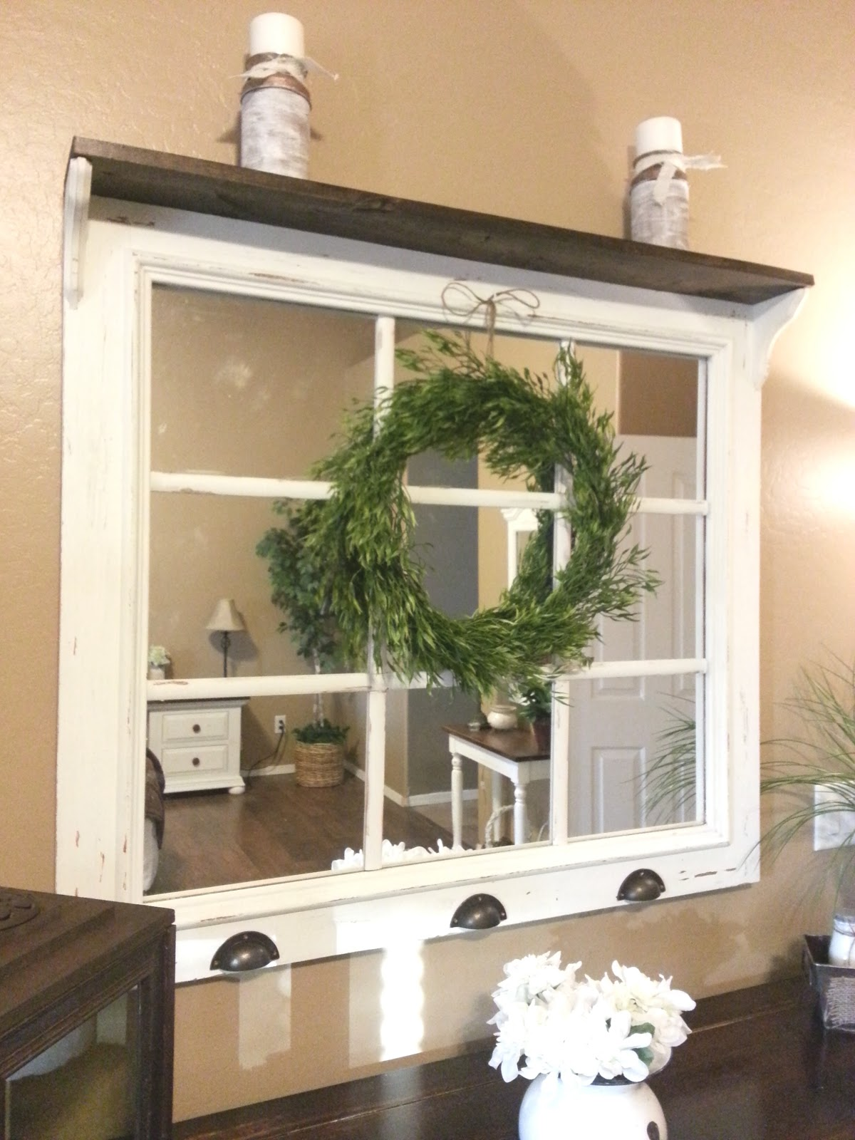 Just Add Some Java Diy Window Pane Mirror