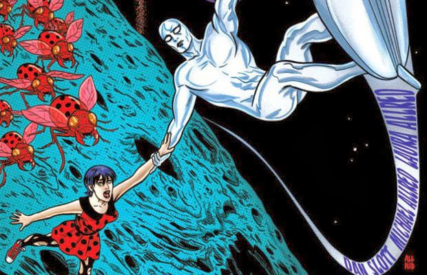 SIlver Surfer and Dawn Greenwood on the cover of Silver Surfer one