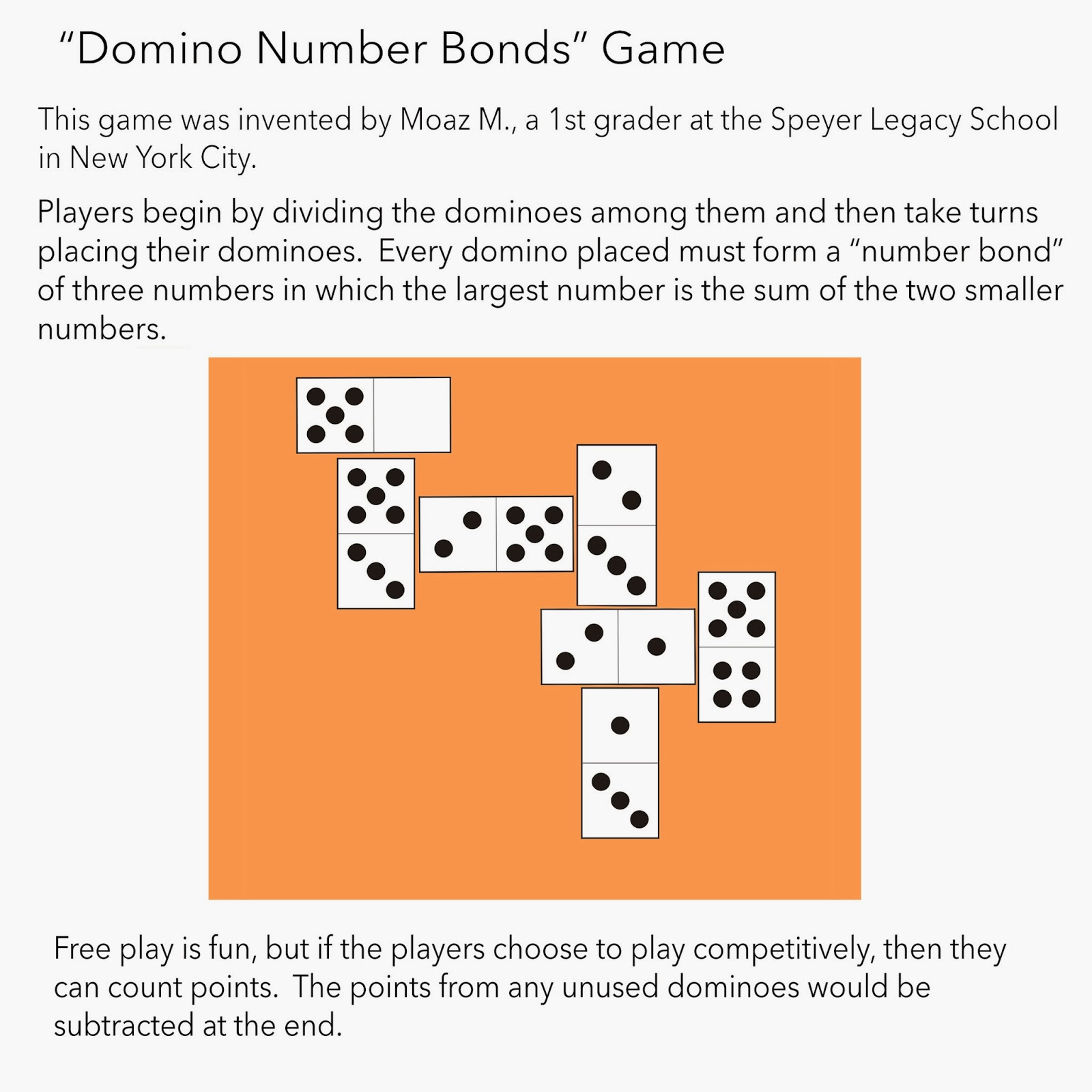 Math Problems Domino Number Bonds
