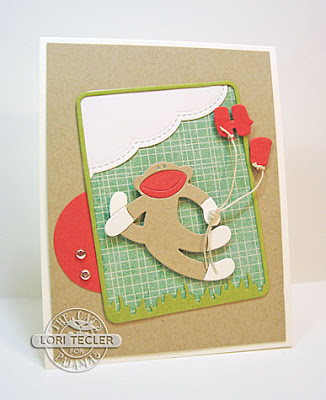 Hi card-designed by Lori Tecler/Inking Aloud-dies from The Cat's Pajamas