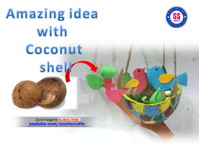 Here is coconut shells crafts,coconut shell lamp,how to make coconut shells show piece,how to make coconut designer bowl,how to make coconut shell flower basket,how to make coconut shell pen stand,how to make coconut shell birds nest ssartscrafts videos in youtube channel