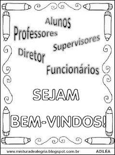 Cartaz sejam bem-vindos