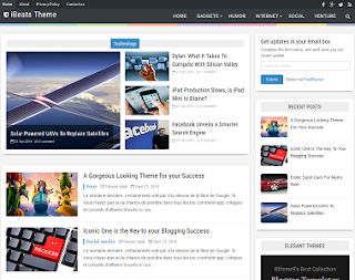 I Beats responsive Blogger template