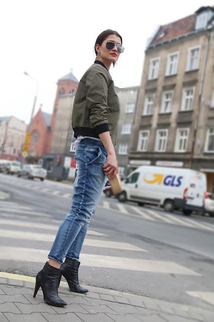 bomber, kurtka, streetstyle, military, boyfriend jeans, stylistka, styiistka poznan, street style poznań, novamoda stylizacje, street style poznań,