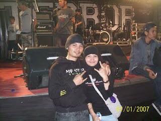 Cecen Core & Epi Friesta Dewi Hasibuan di Konser Terror di Medan
