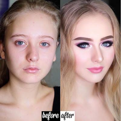 10 Contoh Perubahan Dahsyat Wajah Wanita Sebelum dan Setelah Bersolek
