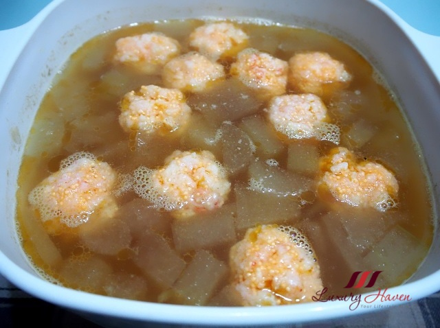 prawn balls winter melon soup recipe