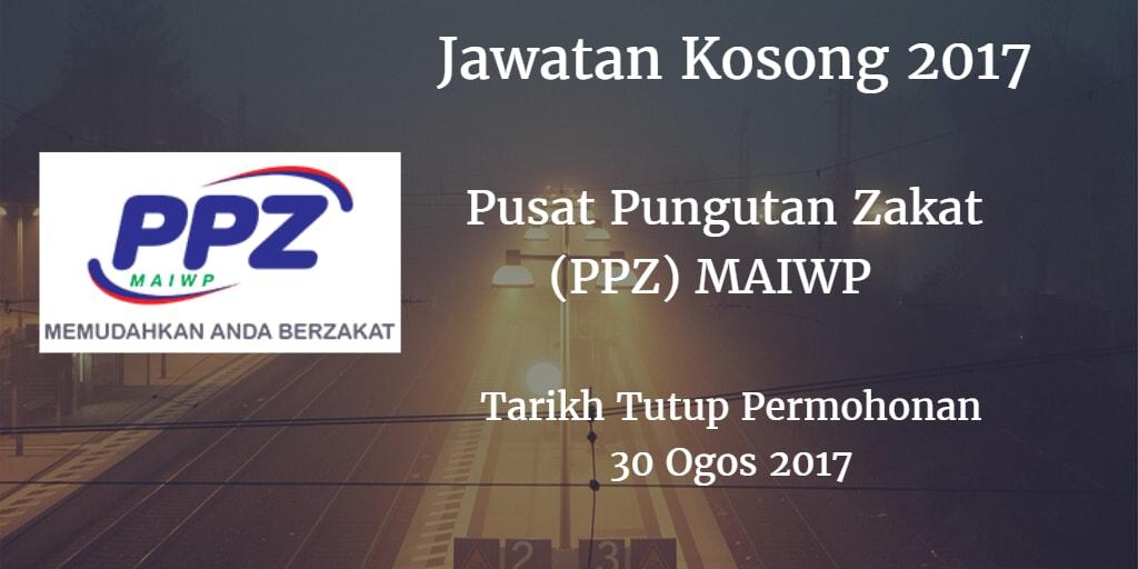 Jawatan Kosong Pusat Pungutan Zakat (PPZ) MAIWP 30 Ogos 2017