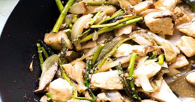 Chicken Stir Fry With Asparagus And Mushrooms Recipe
