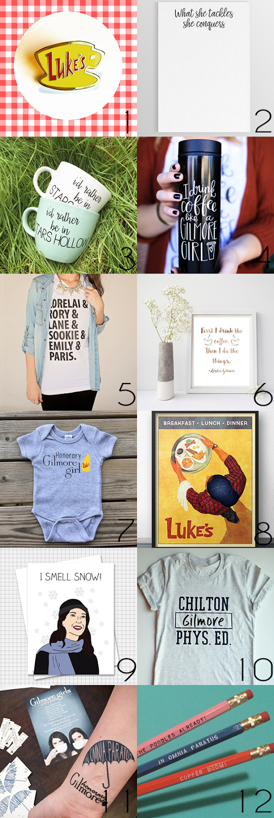 12 Etsy gift ideas for Gilmore Girls fans