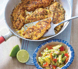 blackened mahi-mahi with pineapple salsa recipe