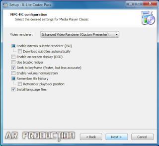 Tahap 4 Instalasi K-Lite Codec Pack Beserta Gambar