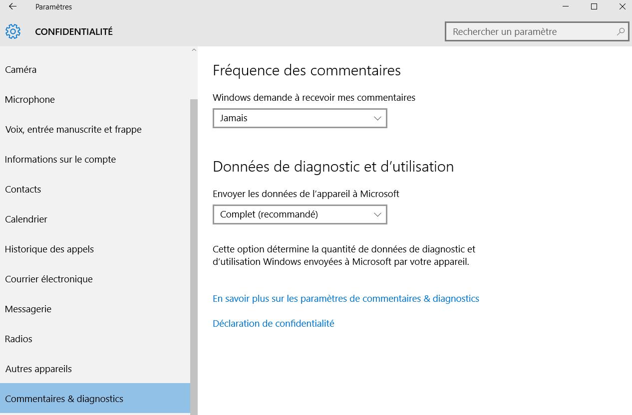 La confidentialité à la mode Microsoft
