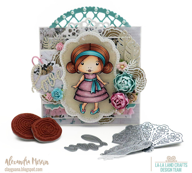 Lovely Marci rubber stamp La-La Land Crafts