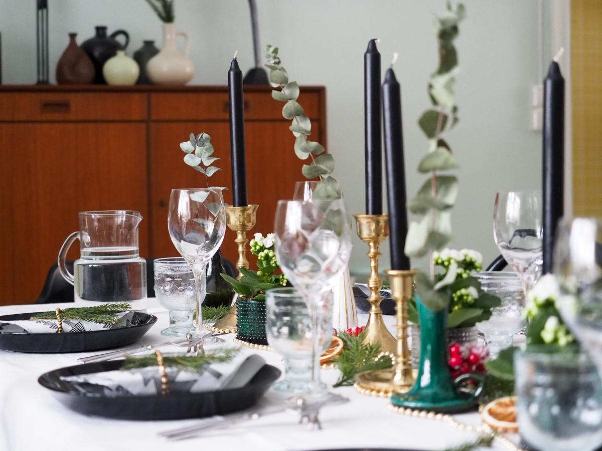 joulu, joulupöytä, kattaus