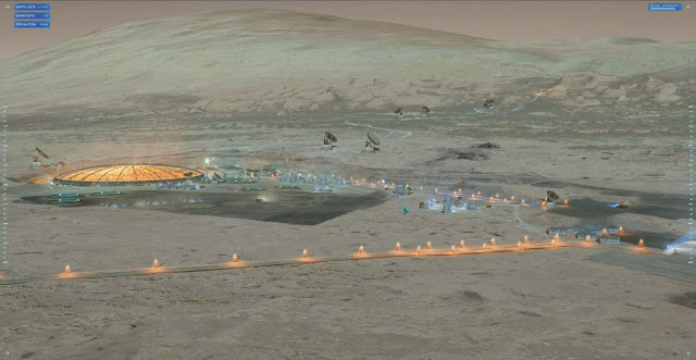 Project Eagle Mars base by Blackbird Interactive, NASA JPL