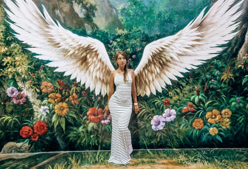 woman angel wings