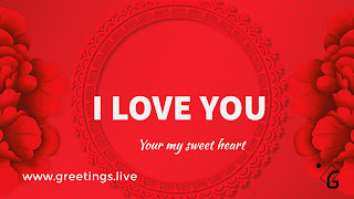 I love you in red colur background