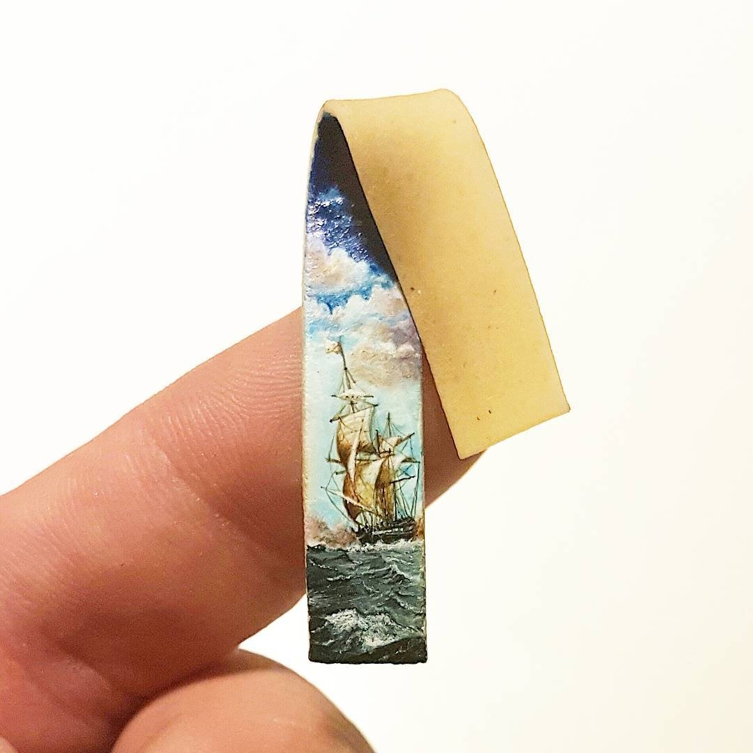 04-Pasta-Hasan-Kale-Micro-Tiny-Paintings-with-Unusual-Canvases-www-designstack-co