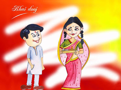 happy Bhai dooj wishes sms quotes images in hindi