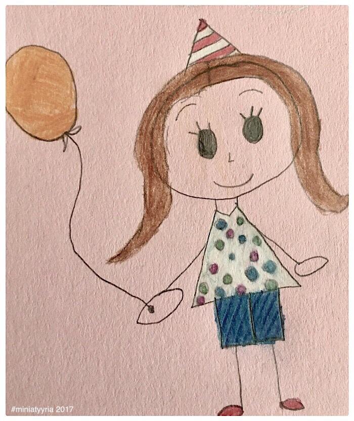 Kevättä rinnassa - 9-vuotiaan piirustus