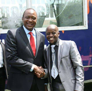 Nairobi MCA Njogu Njoroge with President Kenyatta. PHOTO | FILE