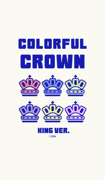 Colorful Crown KING (PairTheme)