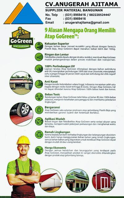 Kelebihan Atap Go Green