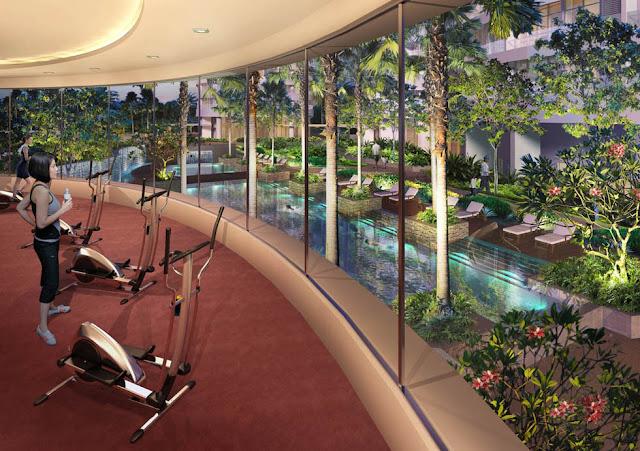 Phòng tập Gym tại Riverside Garden