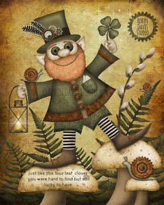Irish Leprechaun Print - Robin Davis Studio
