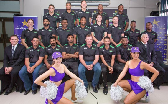 Hollywoodbets Dolphins 2017/18 Season - Squad Photo - Hollywoodbets - Cheerleaders - Cricket - South Africa - KwaZulu-Natal - Durban - Kingsmead