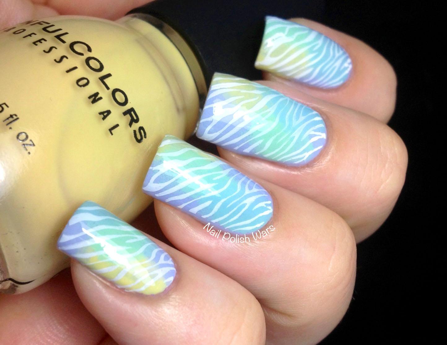 Nail Polish Wars: Watercolor Zebra