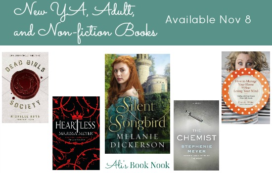 New YA, Adult Fiction, and Nonfiction books published november 8