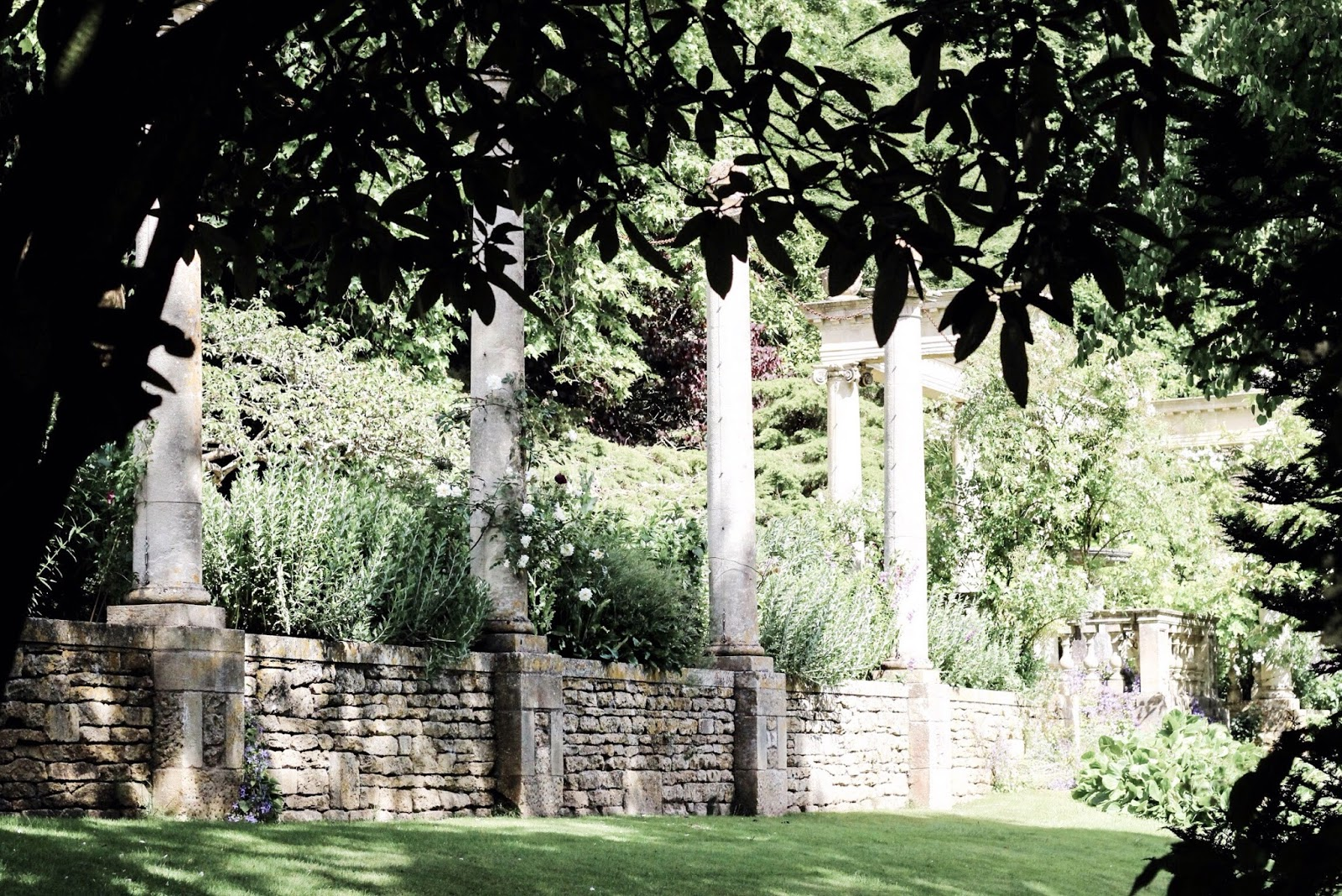 Beautiful landscaped UK gardens with pillars