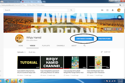 Cara Memasang Link Sosial Media di Banner Header Youtube