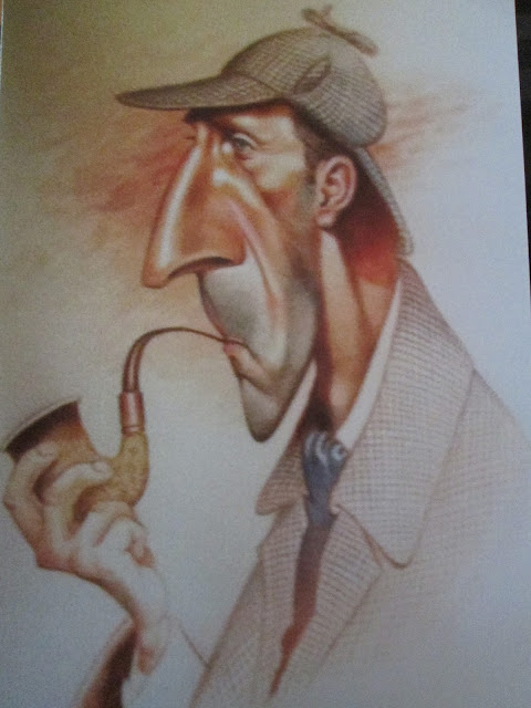 Peter Cushing caricature