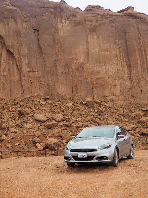 Car in Monument Valley