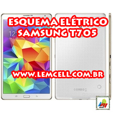 Esquema Elétrico Tablet Smartphone Samsung Galaxy Tab S 8.4 T705 Manual de Serviço  Service Manual schematic Diagram Cell Phone Smartphone Samsung Galaxy Tab S 8.4 T705
