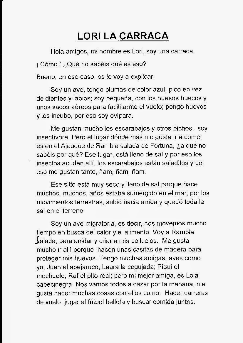 CUENTO DE ALEJANDRO CÁNOVAS 5º PRIMARIA