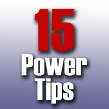15 power tips,