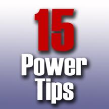 15 power tips,