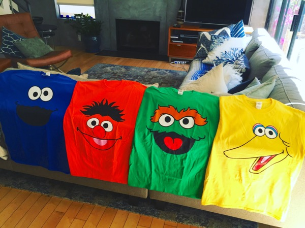 Tax March Sesame Street tshirts