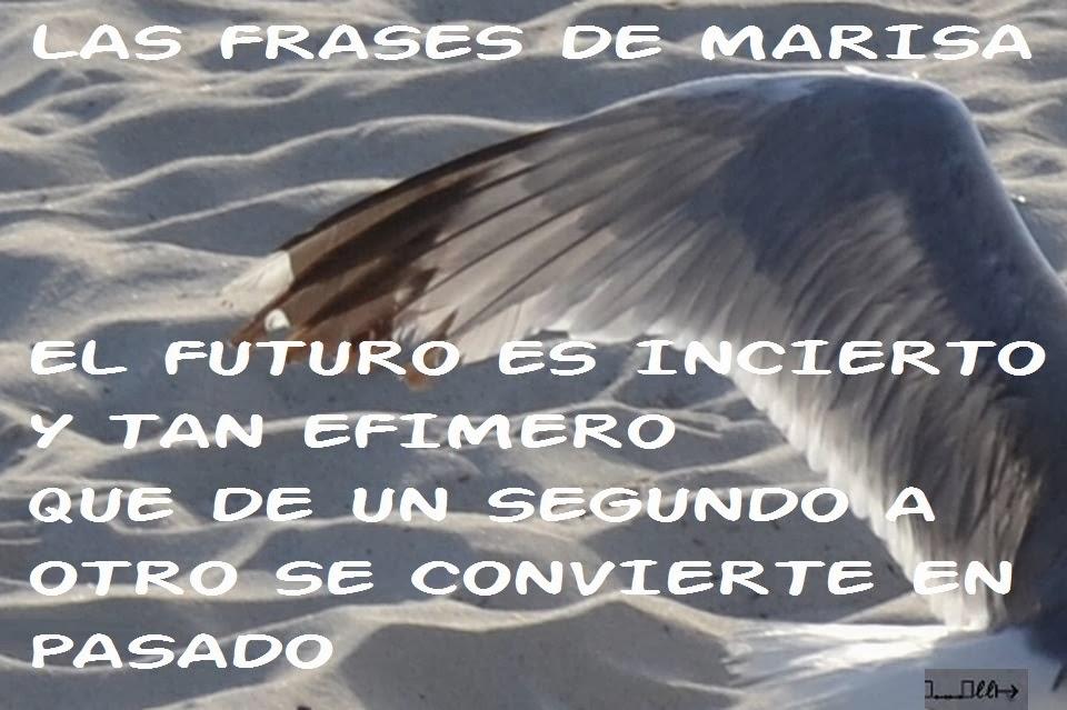 Frases De Futuro: Las Frases De Marisa: EL FUTURO ES INCIERTO