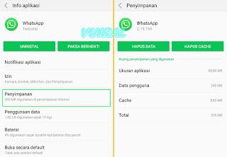 Cara Mengembalikan Kontak Whatsapp (WA) Yang Hilang Melalui Clear Cache