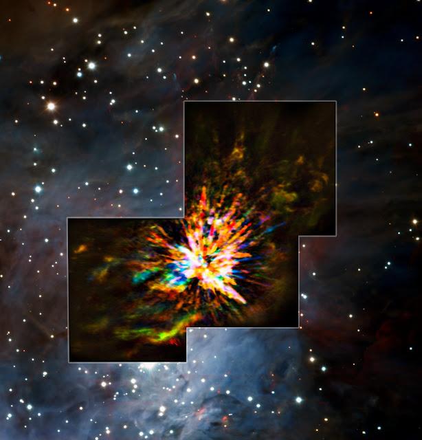 ALMA captures dramatic stellar fireworks