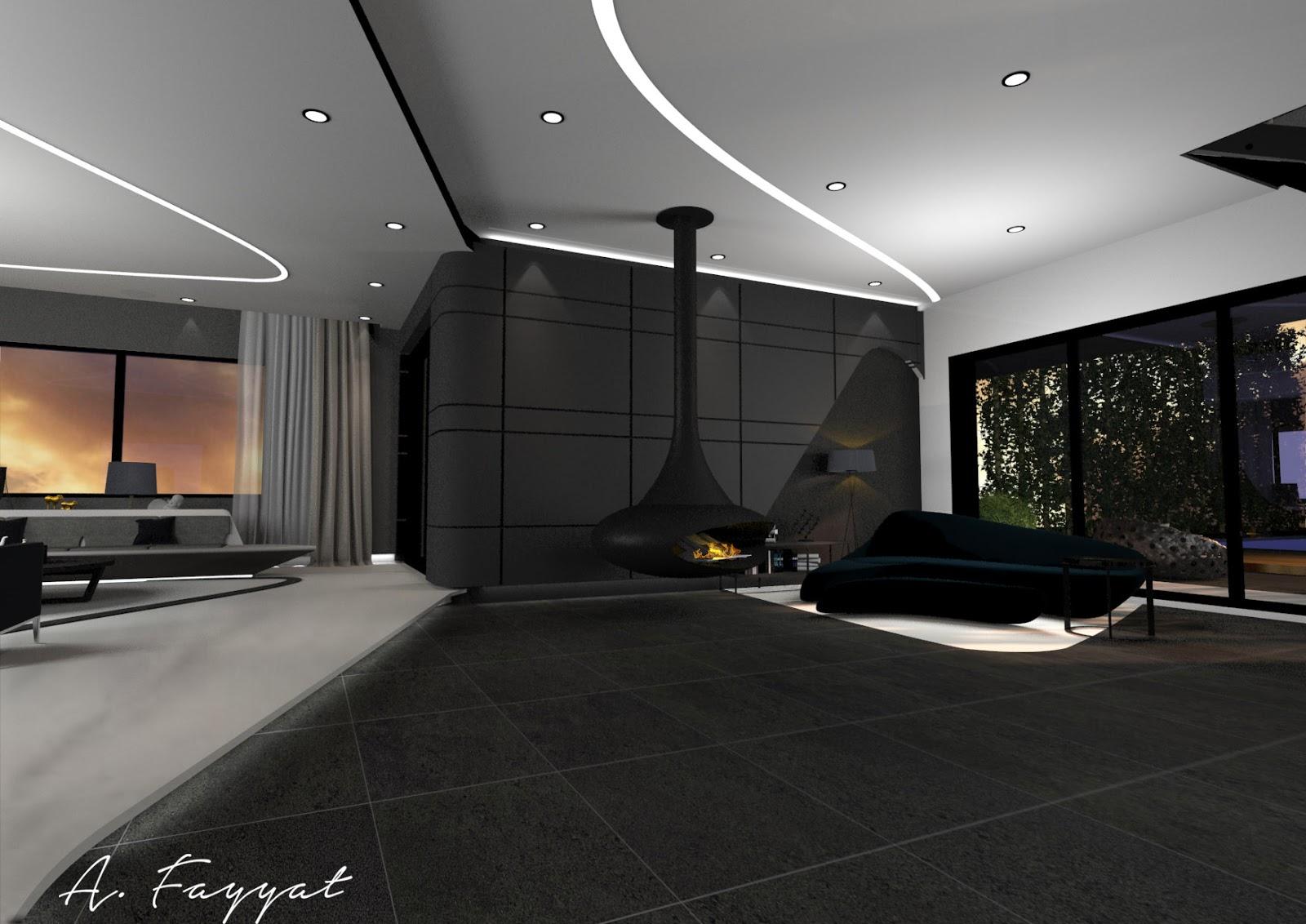 Interior Designer Ultra Modern Villa Salon Design