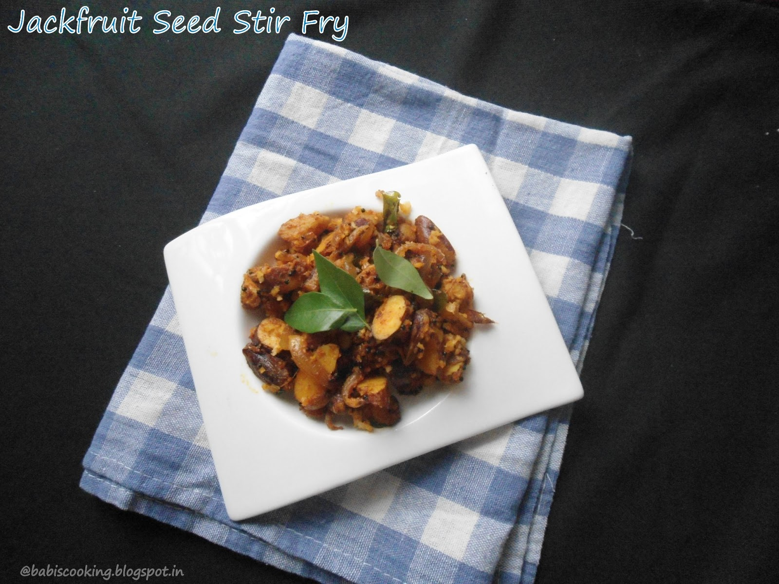 jackfruit seeds stir fry