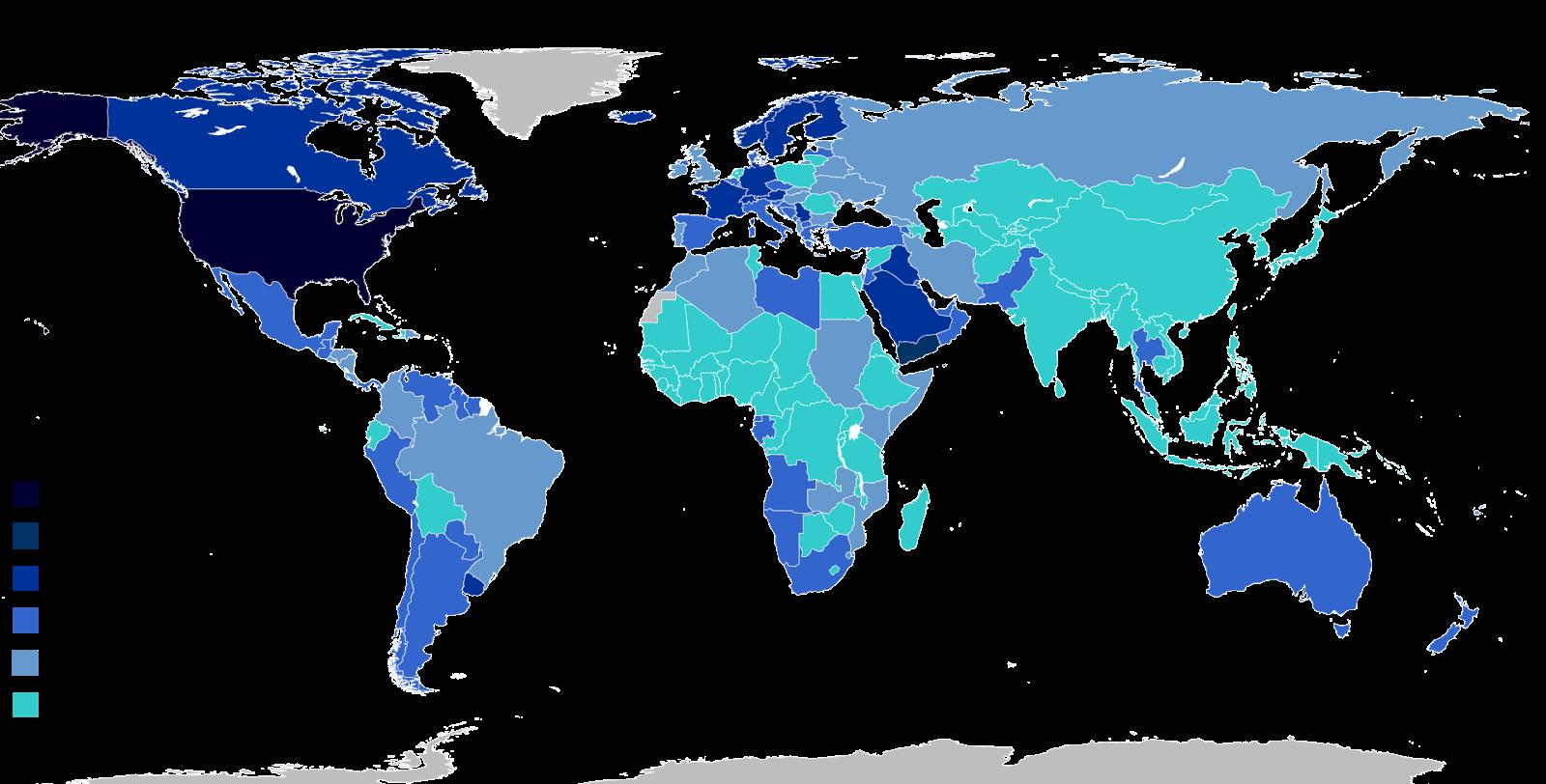 Civilian guns per capita