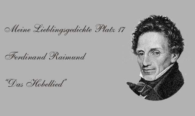 "Ferdinand Raimund ""Hobellied"""