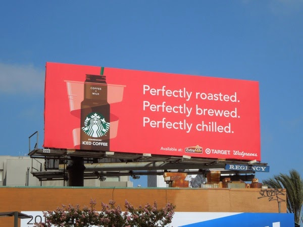 Starbucks Perfectly Iced Coffee billboard